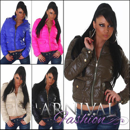 SEXY WOMEN PUFFER JACKET COAT up top LADIES CASUAL SLIM sz M L XL XXL OUTWEAR AU