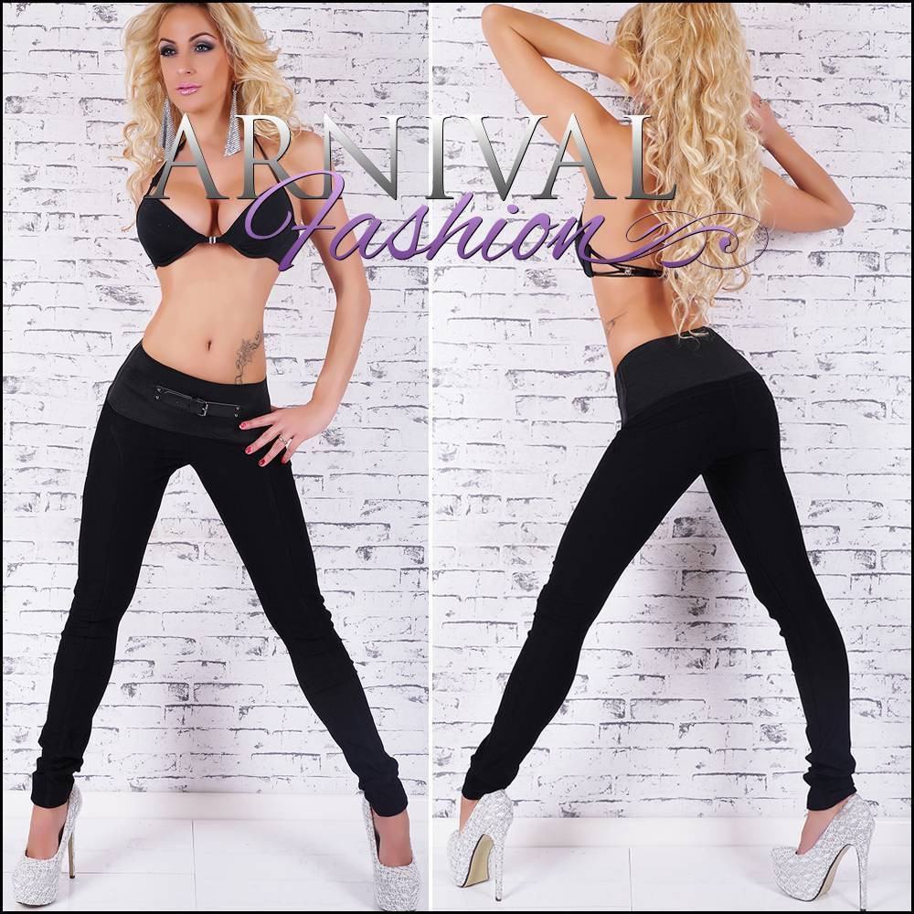 552d3b9751f332 SEXY WOMENS BLACK PANTS SKINNY stretch HOT PANTS skin tight TROUSERS  leggings au - ARNIVAL
