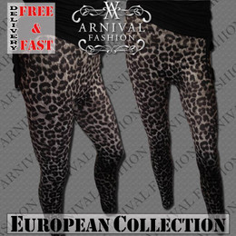 WOMEN CASUAL TIGHT PANTS ANIMAL PRINT STRETCH LEGGINGS size M L XL YOGA JEGGINGS