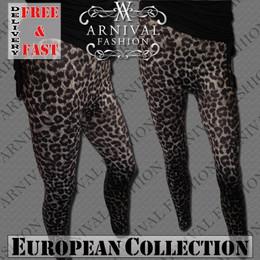 WOMEN CASUAL TIGHT PANTS ANIMAL PRINT STRETCH LEGGINGS size M L XL YOGA JEGGINGS