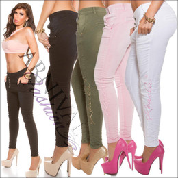 SKINNY JEANS WOMENS STRETCH DENIM HOT PANTS LADIES CELEB TROUSERS 6 8 10 12 14