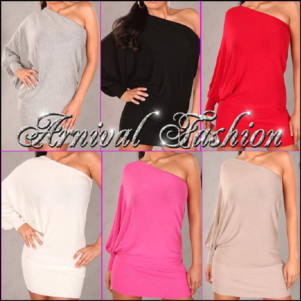 b2639662fa4 WOMEN LONG JUMPER DRESS size 8 10 12 LADIES PULLOVER ONE OFF SHOULDER TOP S  M au