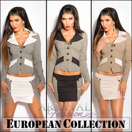 WOMEN SHORT SKIRT SUIT SET 10 12 14 BUSINESS BLAZER TOP COAT JACKET XS S M L XL