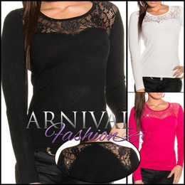 WOMEN JUMPER long sleeve KNITTED LACE TOPS SWEATER AU sweater casual pullover AU