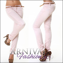 WOMENS PUSH UP PANTS + BELT ladies HOTPANTS STRETCH TROUSERS TREGGINGS CELEB AU