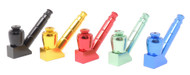 "3.5"" Anodized Metal Pipe w/Stand - Assorted"