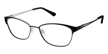 Black Silver Superflex Titan SF-1079T Eyeglasses.