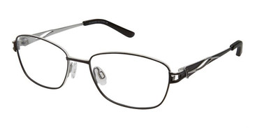 Black Silver Superflex Titan SF-1071T Eyeglasses.