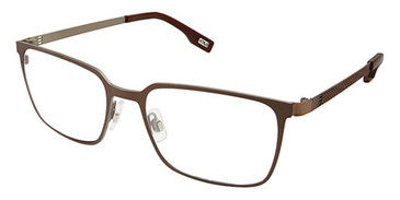 Brown Taupe Evatik 9175 Eyeglasses.