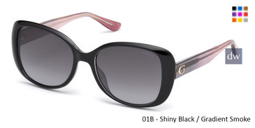 01B - Shiny Black / Gradient Smoke Guess GU7554 Sunglasses