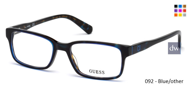 092 - Blue/other Guess GU1906 Eyeglasses