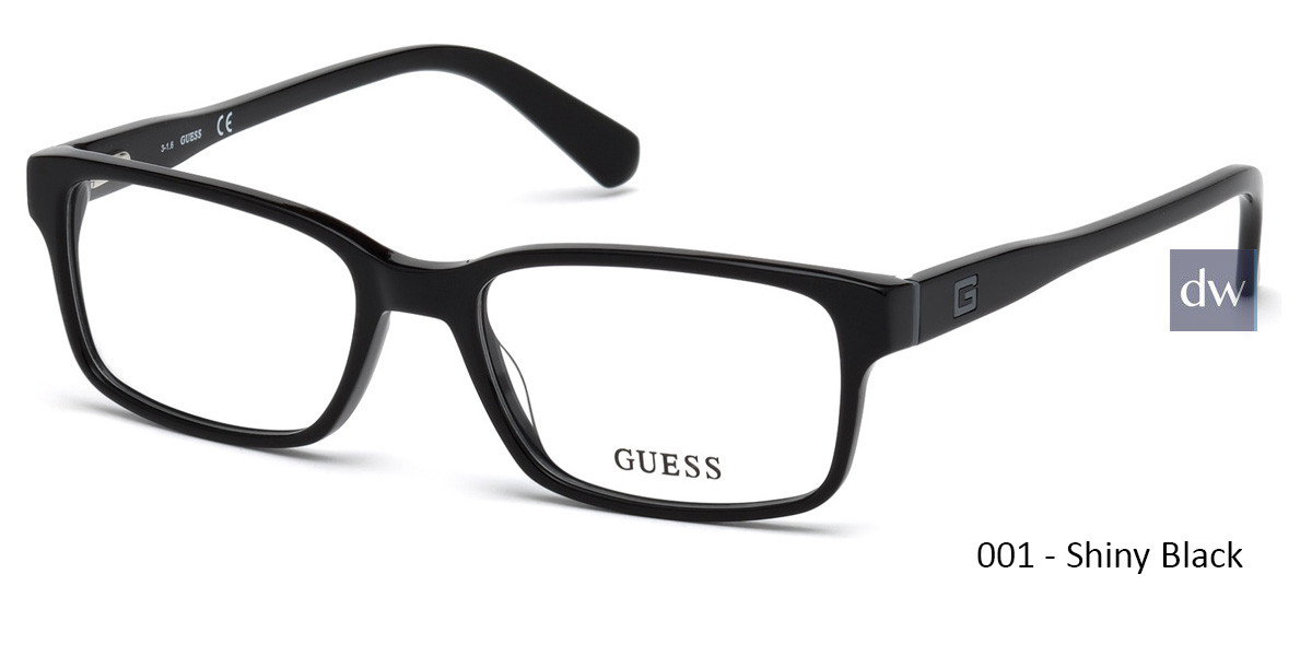 001 - Shiny Black Guess GU1906 Eyeglasses