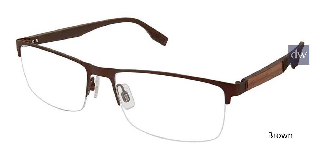Brown Evatik 9178 Eyeglasses.