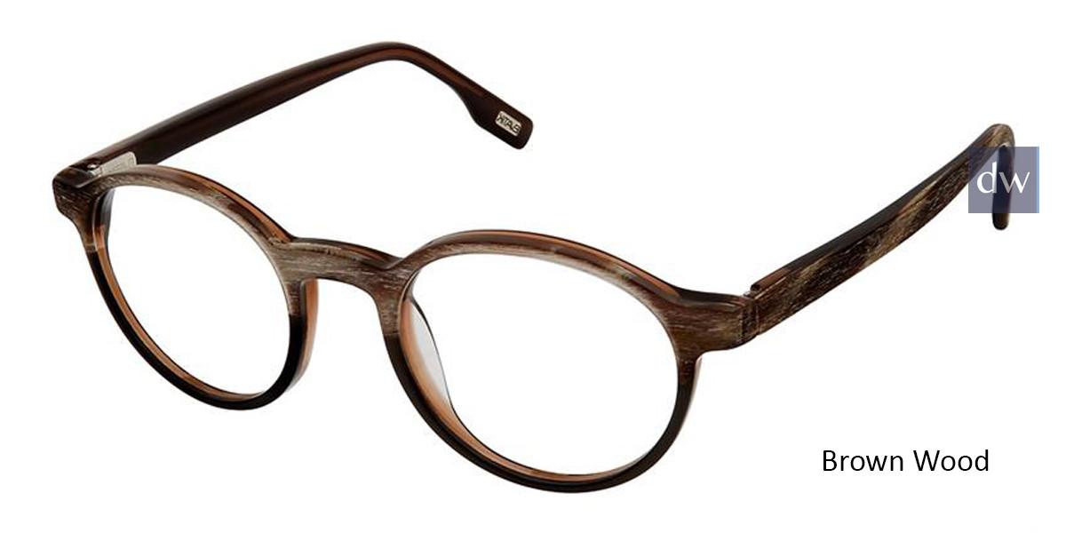 Brown Wood Evatik 9172 Eyeglasses.