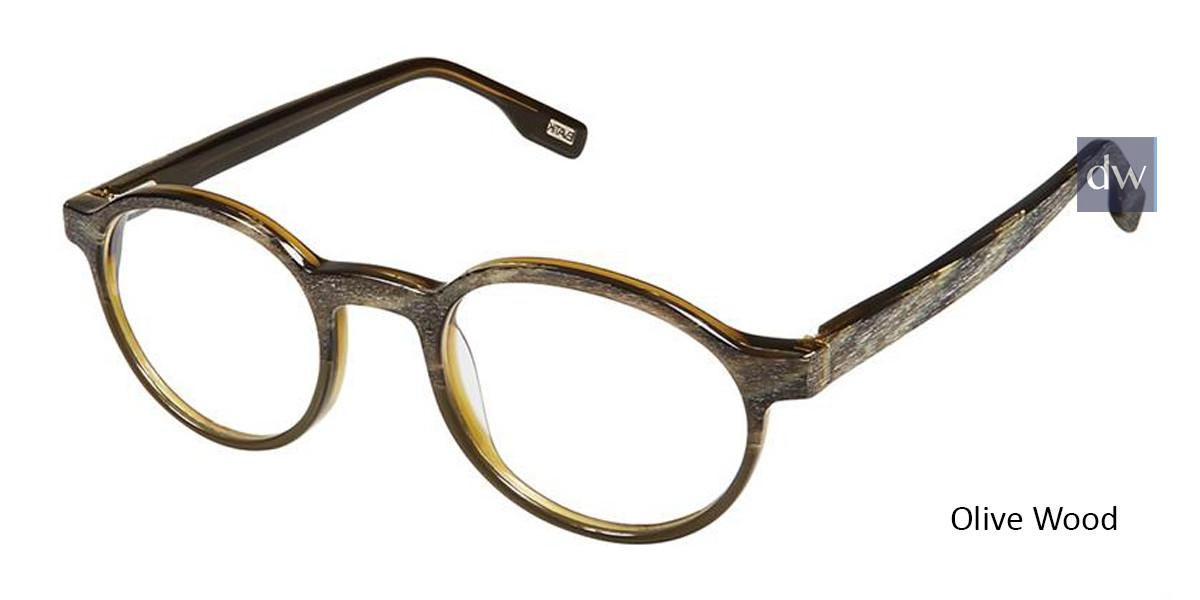 Olive Wood Evatik 9172 Eyeglasses.