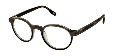 Black Wood Evatik 9172 Eyeglasses.