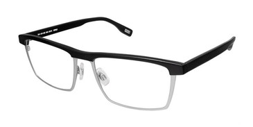 Black Grey Evatik 9165 Eyeglasses.