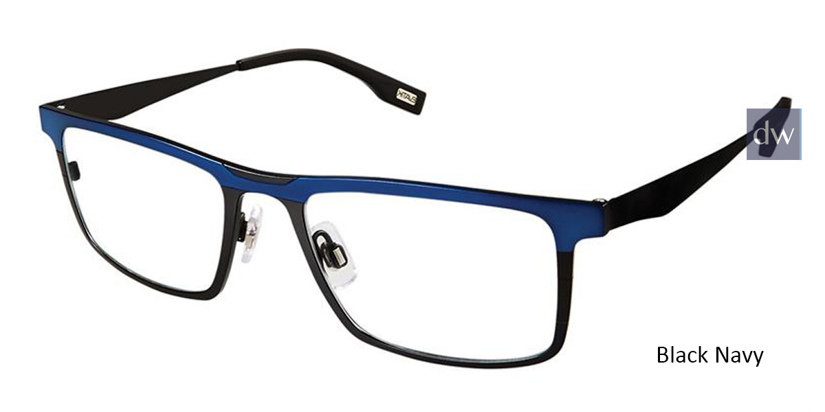 Black Navy Evatik 9163 Eyeglasses.