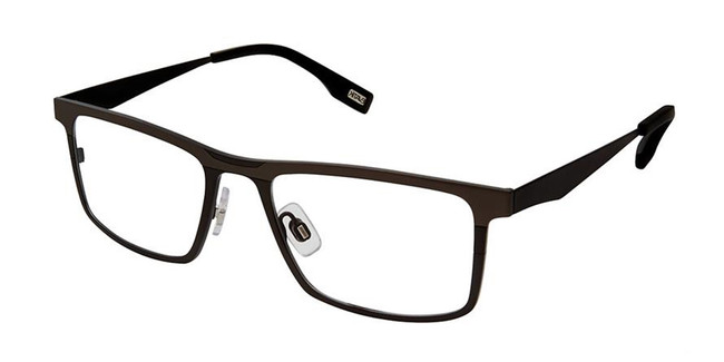 Black Charcoal Evatik 9163 Eyeglasses.