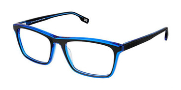 Black Blue Evatik 9158 Eyeglasses.