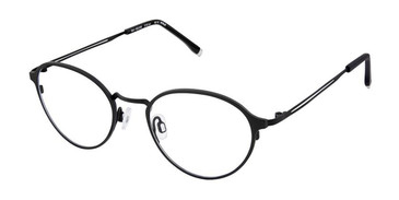 Black Evatik 9156 Eyeglasses.