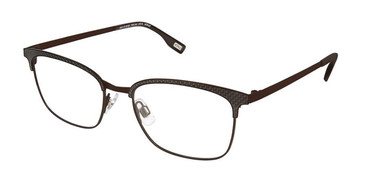 Brown Evatik 9150 Eyeglasses.
