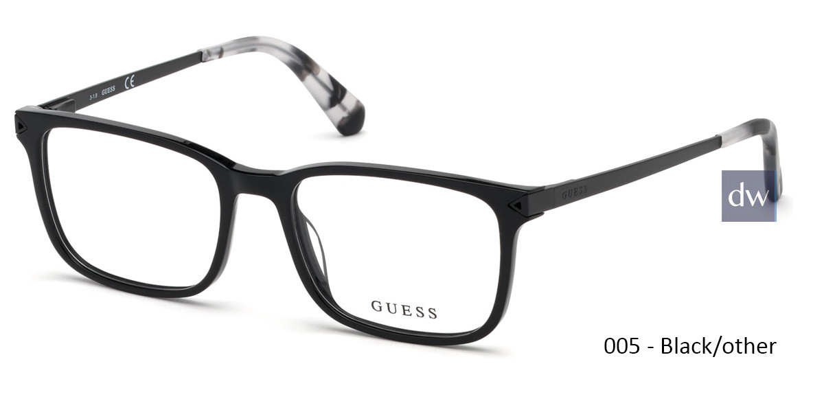 005 - Black/other Guess GU1963-F Eyeglasses