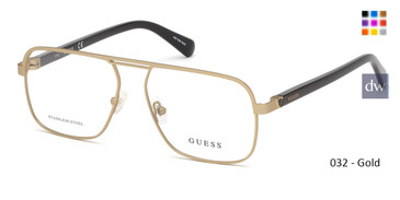 032 - Gold Guess GU1966 Eyeglasses