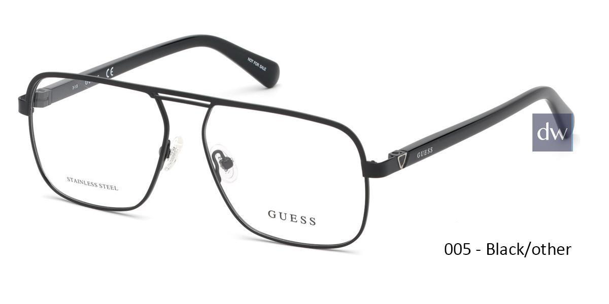 005 - Black/other Guess GU1966 Eyeglasses