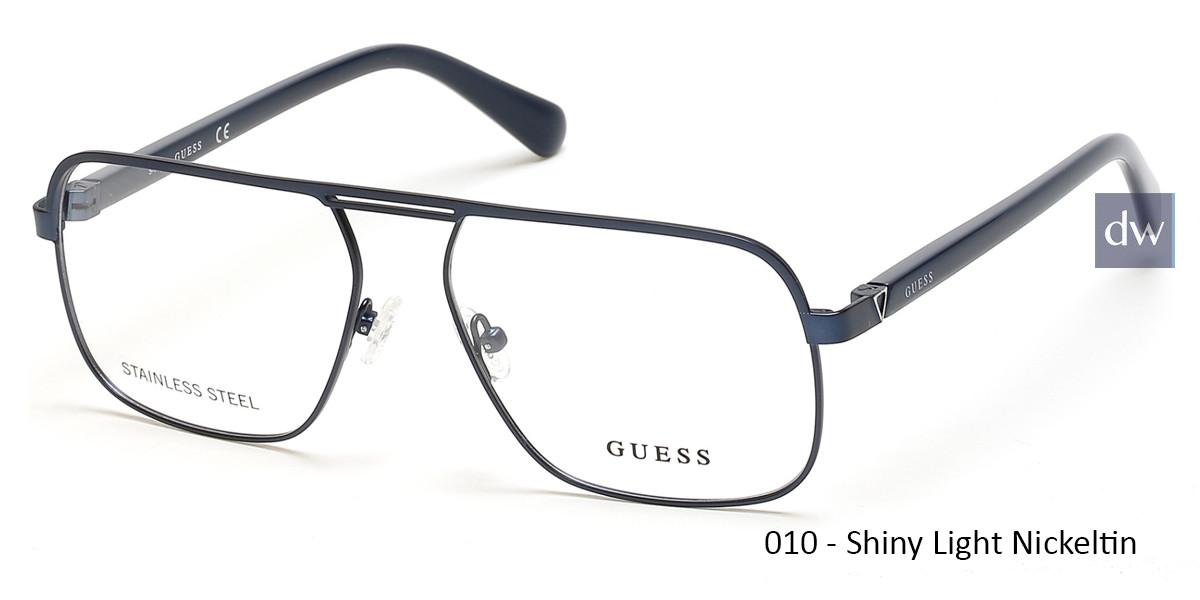 010 - Shiny Light Nickeltin Guess GU1966 Eyeglasses