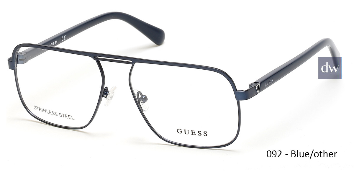 092 - Blue/other Guess GU1966 Eyeglasses