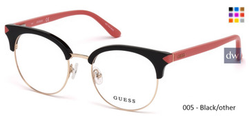005 - Black/other Guess GU2671 Eyeglasses - Teenager
