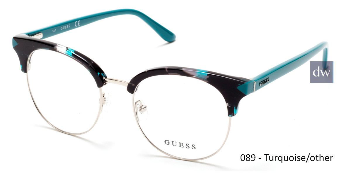 089 - Turquoise/other Guess GU2671 Eyeglasses - Teenager
