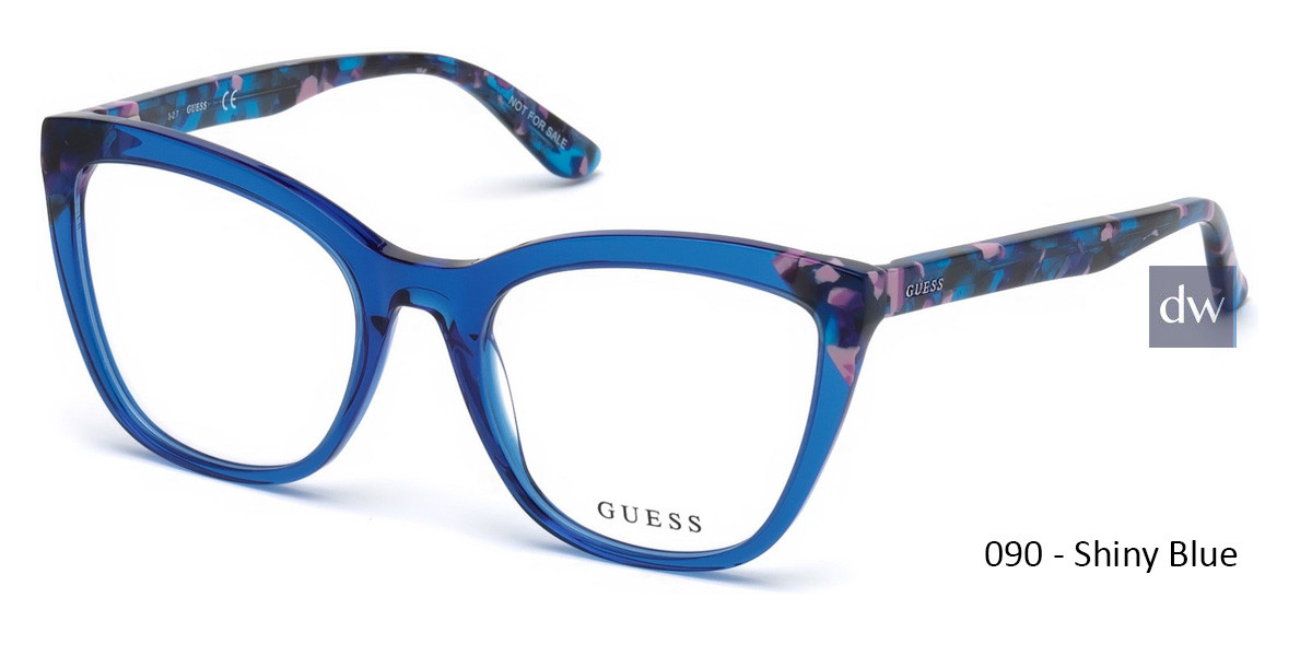 090 - Shiny Blue Guess GU2674 Eyeglasses