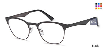 Black Capri DC168 Eyeglasses.