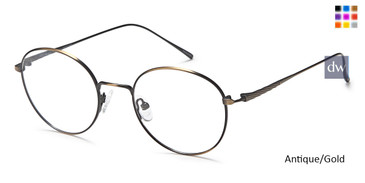 Antique/Gold Capri DC173 Eyeglasses.