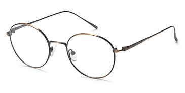 Antique/Gold Capri Dicaprio DC173 Eyeglasses.