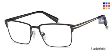 Black/Gold Capri DC175 Eyeglasses.