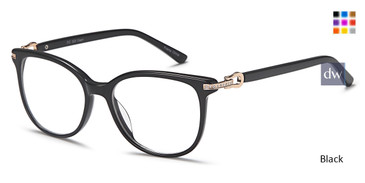 Black Capri DC323 Eyeglasses.
