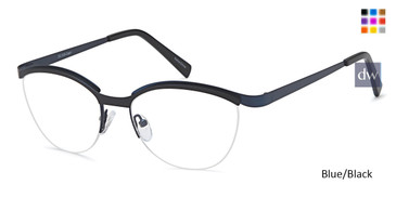 Blue/Black Capri DC329 Eyeglasses.