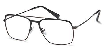 Black/Gunmetal Capri GR 812 Eyeglasses.