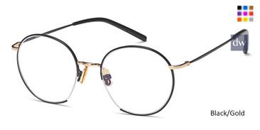Black/Gold Capri M4073 Eyeglasses Teenager.