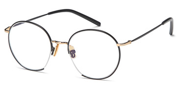 Black/Gold Capri Menizzi M4073 Eyeglasses Teenager.