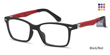 Black/Red Capri T 33 Eyeglasses Teenager.
