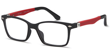 Black/Red Capri Trendy T33 Eyeglasses Teenager