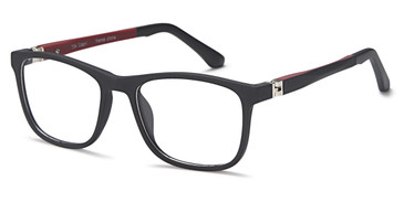 Black Capri Trendy T34 Eyeglasses - Teenager