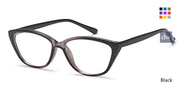 Black Capri U 209 Eyeglasses.