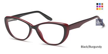Black/Burgundy Capri US 89 Eyeglasses.