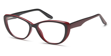 Black/Burgundy Capri 4U US 89 Eyeglasses.