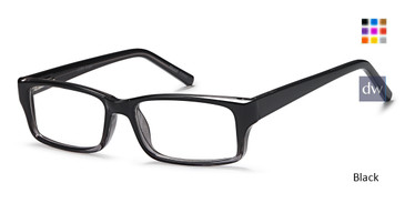 Black Capri US 96 Eyeglasses.